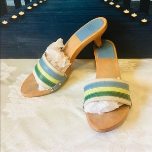 Coach summer striped sandal